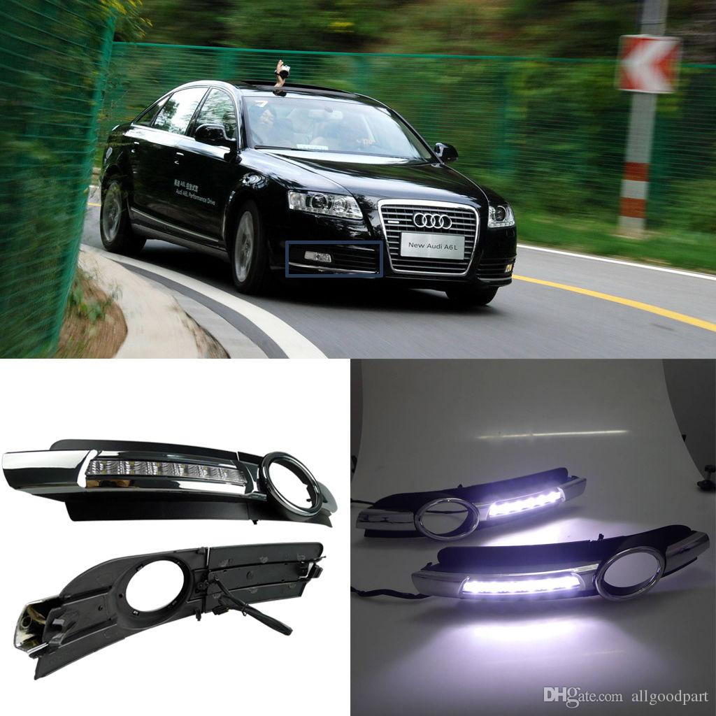 hight resolution of car fog drl led daytime running light for audi a6 a6l c6 2005 2006 2007 2008 cheap led driving lights colored daytime running lights from allgoodpart