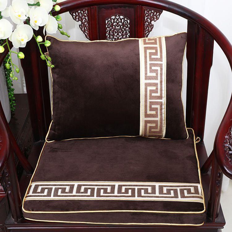 thick chair cushions gel cushion for chairs patchwork geometric velvet big mat seat sofa pad luxury armchair lumbar support decor