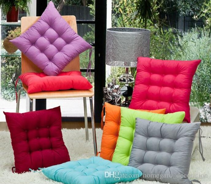 wholesale chair cushions oversized accent chairs solid color cushion office student seat nantong factory direct sales cheap outdoor