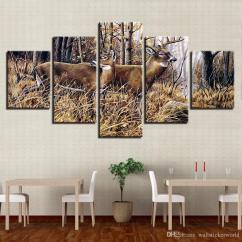 Cheap Wall Art For Living Room Side Tables Rooms Canvas Pictures Home Decor Forest Animal Deers Landscape Paintings Hd Prints Posters Framework Canada 2019 From Wallstickerworld