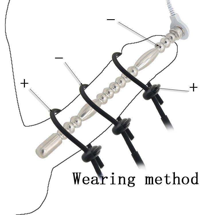 2018 Electric Shock Anal Plug+Urethral Plug Home Medical