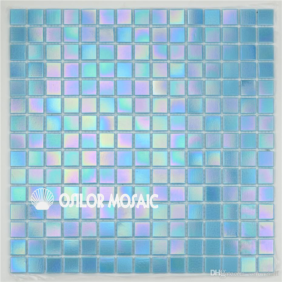 2019 Blue Glass Mosaic Tile For Bathroom And Kitchen And