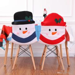 Chair Covers New Year Dining Table Glass Top 6 Chairs Christmas Seat Cover Multi Color Cute Snowman Home Party Years Dinner Ornaments Decor Slip Couch Cheap Rentals