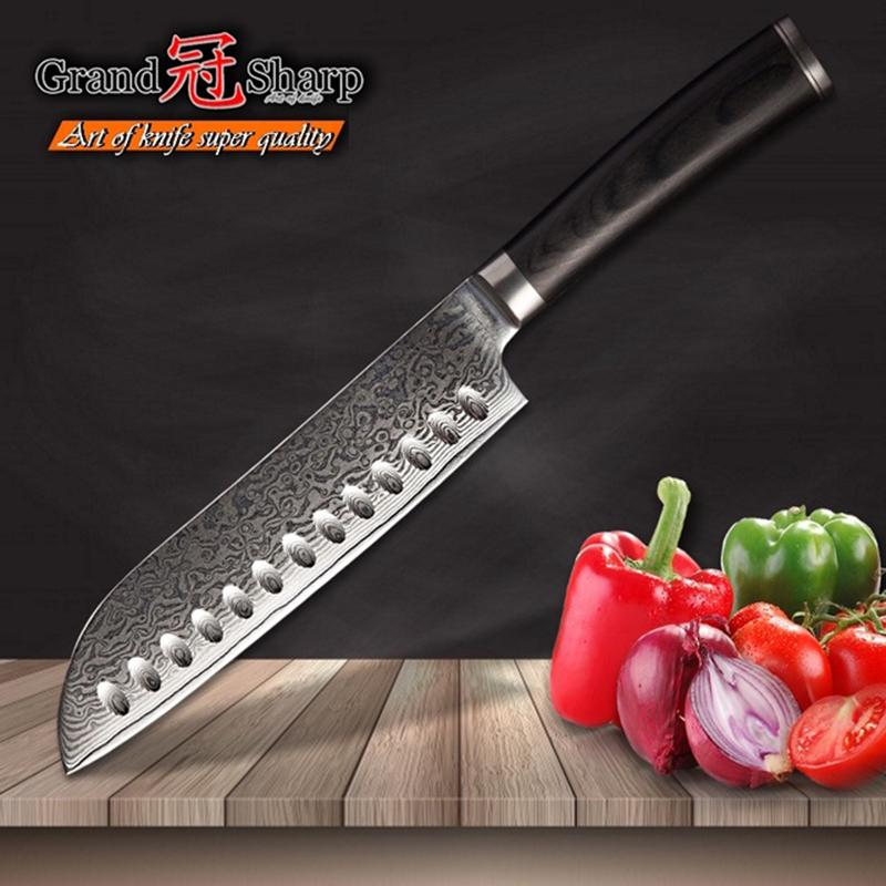 damascus kitchen knives ceilings grandsharp 6 7 inch knife vg10 japanese steel sntoku chef s cooking tools with gift box coolest