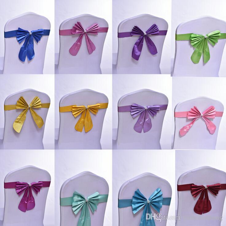 chair covers and sashes what is the best massage wedding cover satin sash bow ties butterfly craft decoration for banquet party stretch window