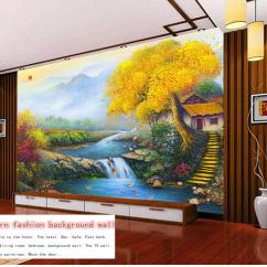 Painting For Living Room Feng Shui Furniture Placement In A Small Rectangular Retail Custom All Day Lucky Treasure Family High Mountain Water Home Mural Wallpaper Computer Desktop From