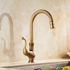 Antique Bronze Kitchen Faucet Ikea Island For Sale 2019 Brass Sink Faucets Single Hand High Arch Swivel Spout Hot And Cold Wash Basin Tap From Saintlotus