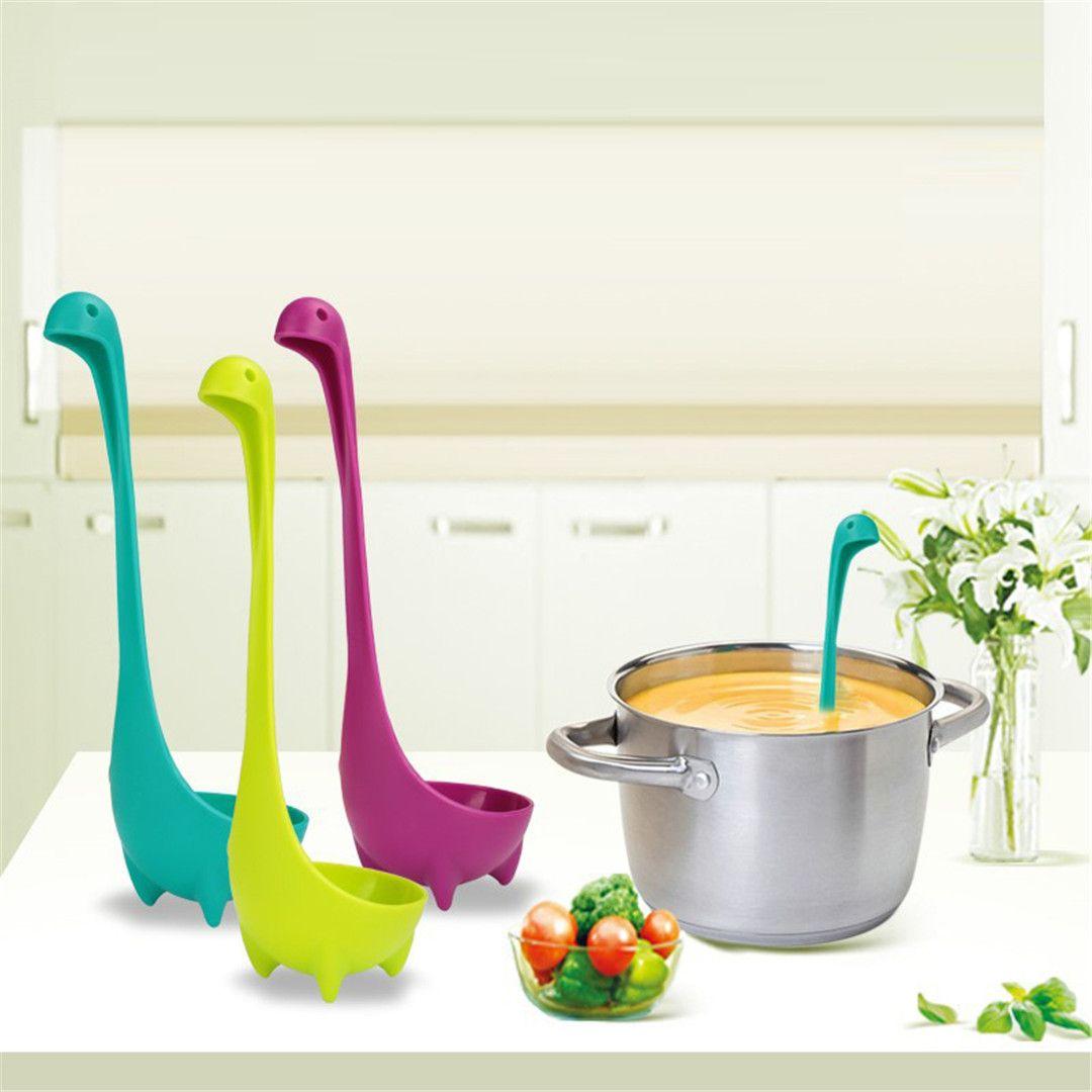 cute kitchen gadgets black chairs cheap new creative plastic soup cartoon spoon nessie ladle