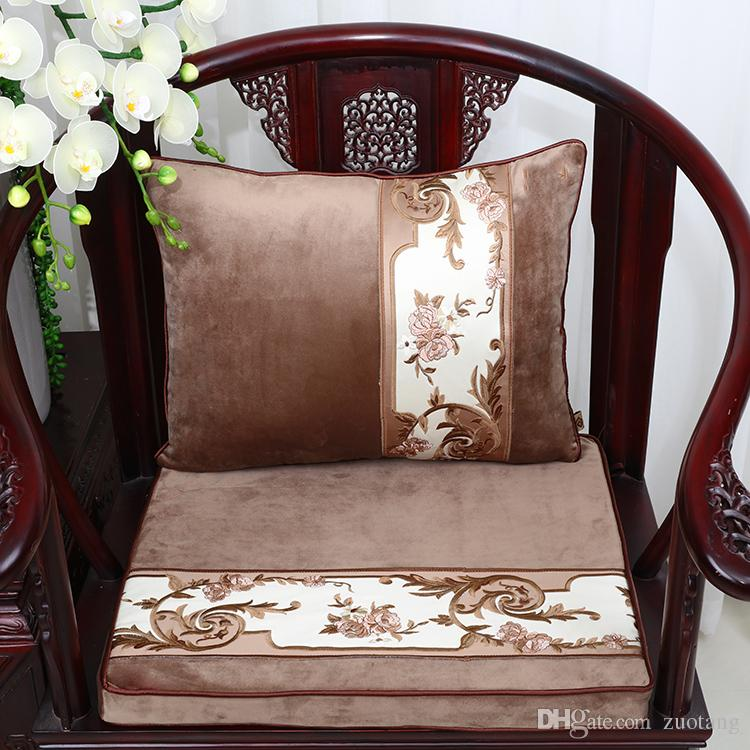 thick chair cushions folding garden chairs aldi patchwork luxury velvet cushion seat pad sofa lumbar pillow high end armchair christmas