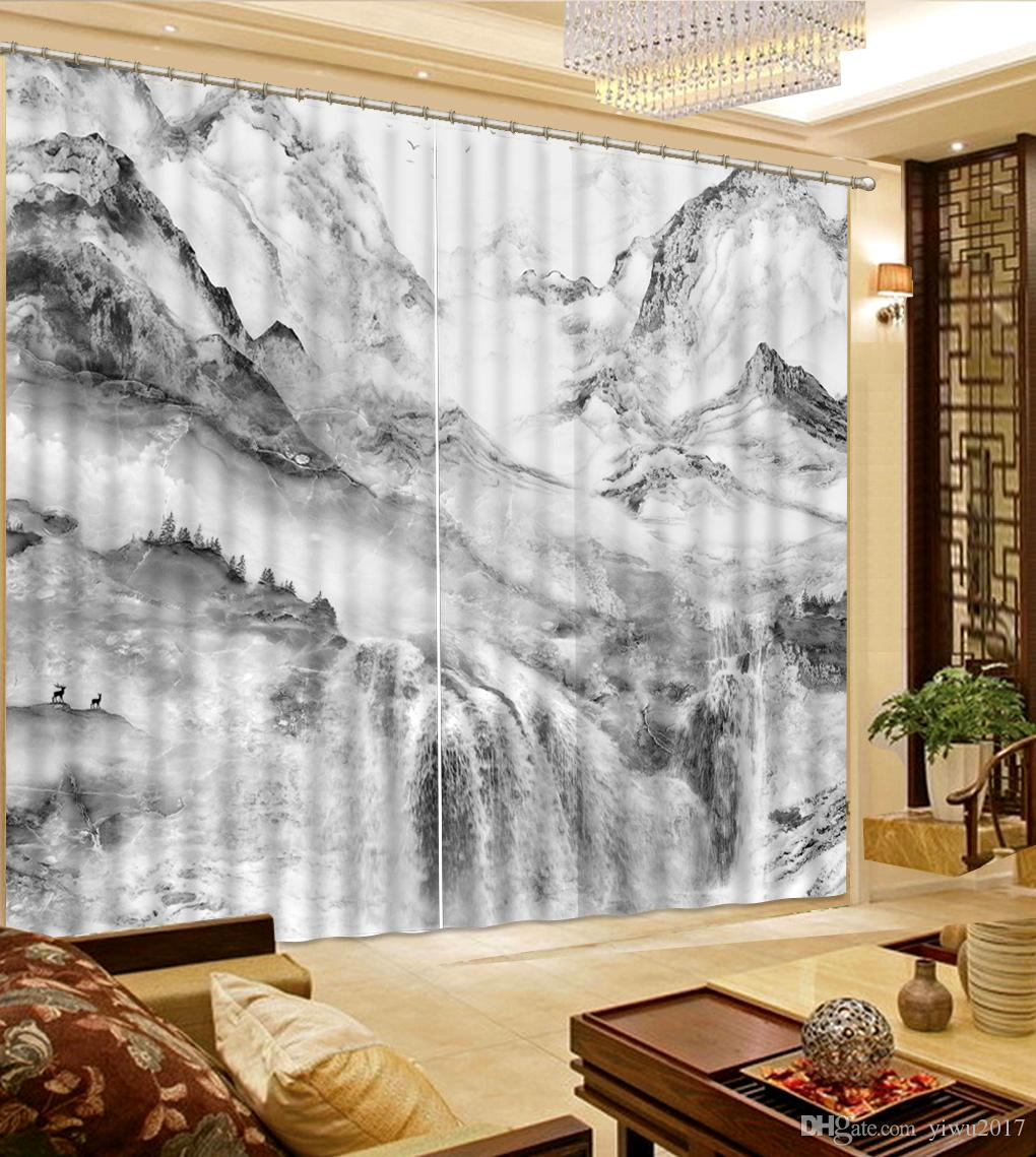 living room curtain pics interior design divider window marble peaks luxury 3d curtains for bedroom kitchen blackout canada 2018 from yiwu2017 cad 110 70 dhgate