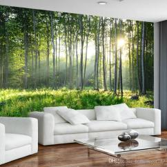 Large Living Room Sofas Decorating Ideas With Dark Wood Floors Custom Photo Wallpaper 3d Green Forest Nature Landscape Murals Sofa Bedroom Modern Wall Painting Home Decor Canada 2018 From Homedecor789