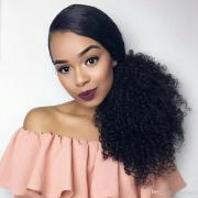 african american kinky curly ponytail