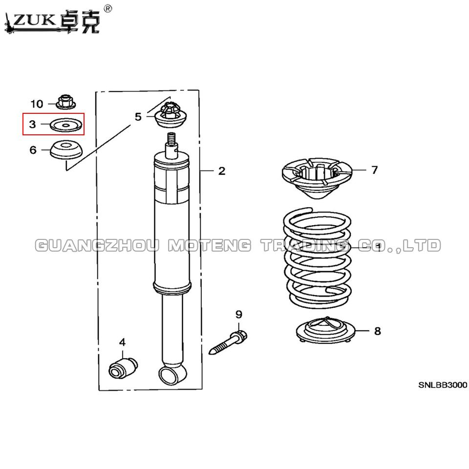 2019 ZUK Rear Shock Absorber Mounting Gasket Washer For