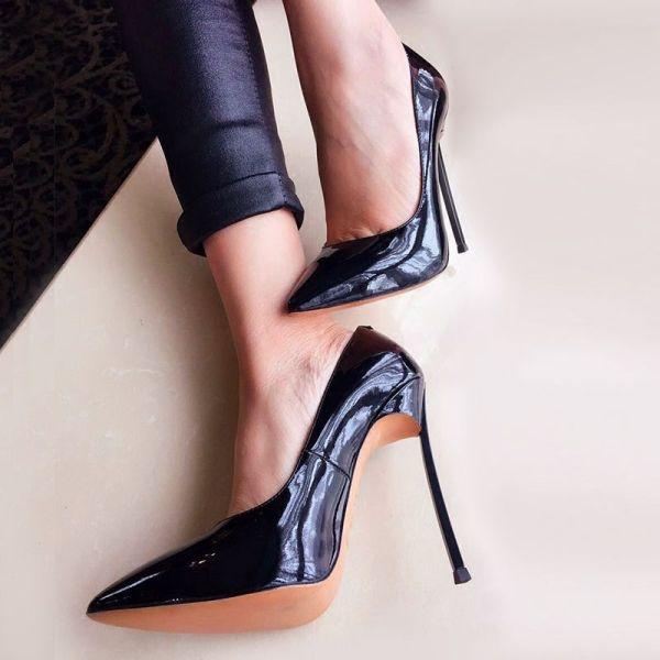 Size 35 42 Blade Metal Heel Patent Leather Pumps Thin 9b4de9a415d