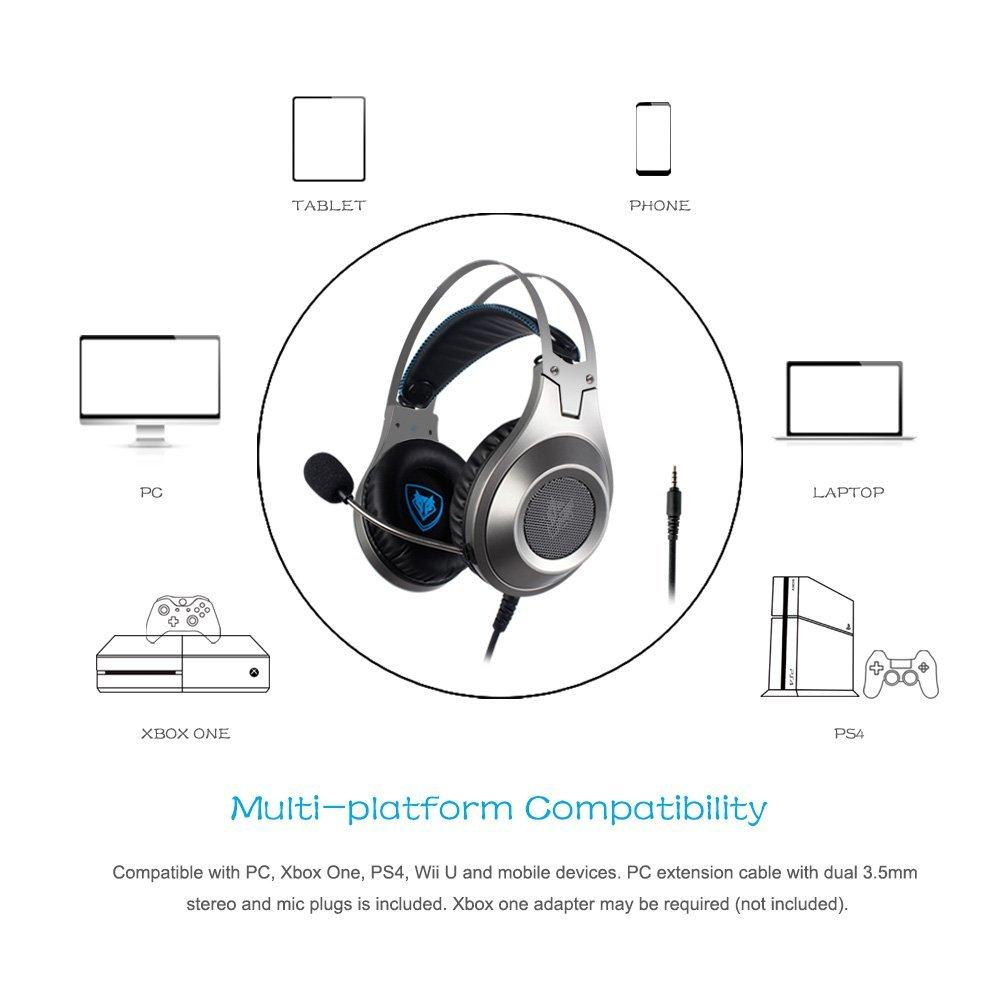 NUBWO N2 Xbox One PS4 Gaming Headset, PC Mic Stereo Gamer