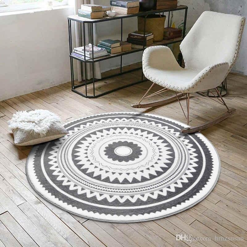 swivel chair on carpet ice fishing with rod storage nordic round coffee table room bedroom living rug garden kids mat computer cushion frieze discount area rugs from