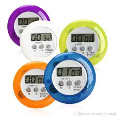 Digital Kitchen Timers Theme Decor Sets 2019 2018 Lcd Countdown Back Stand Cooking Type Timer Color White Blue Purple Green Orange Material Plastic Weight 37g Piece Battery Ag13 Not Included