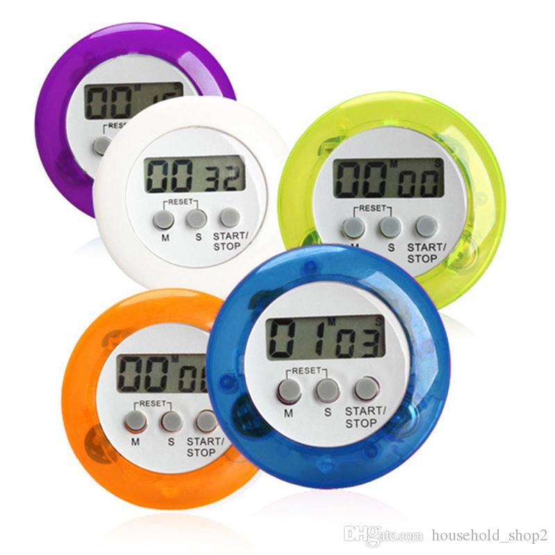 digital kitchen timers islands in kitchens 2019 2018 lcd countdown back stand cooking type timer color white blue purple green orange material plastic weight 37g piece battery ag13 not included