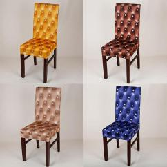 Will Folding Chair Covers Fit Banquet Chairs Outdoor Recliner Australia Dinning Spandex Cover European Style Printed Stretch Elastic This With Stretched Can Most And Dining