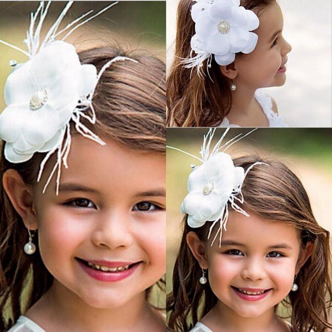 new flower girl hair accessories children tiaras fashion hair flowers wedding dress accessories girls cute flower princess headwear