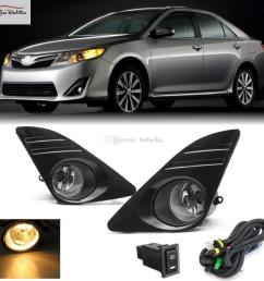 car fog lights for 2012 2014 toyota camry u s type front fog lights bumper lamps kit switch wiring one pair led fog light led fog light bulb from beibeika  [ 1024 x 1024 Pixel ]