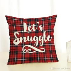 Tartan Dining Chair Covers For Sale Felt Glides Christmas Letter Plaid Cartoon Pattern Couple Pillow Cushion Case Package Including 1 Pc Cover The Is Not Included Inner