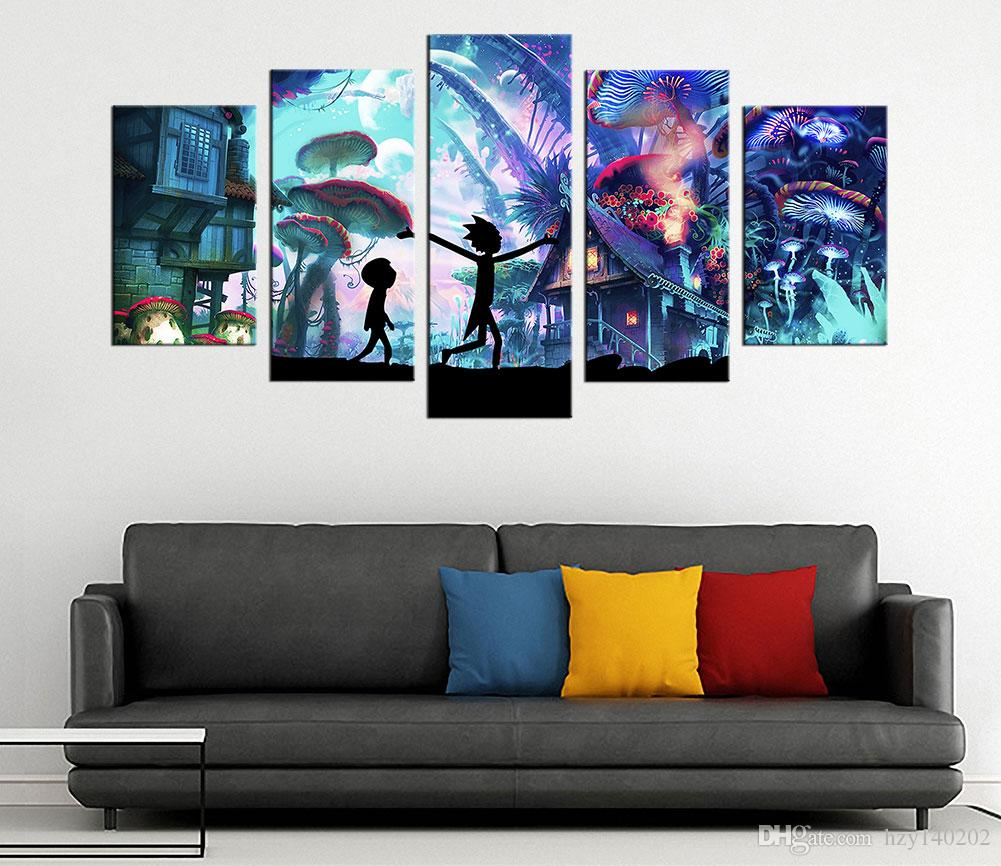 modern artwork for living room navy furniture 2019 rick and morty canvas prints wall art decor poster abstract buyers pay attention to