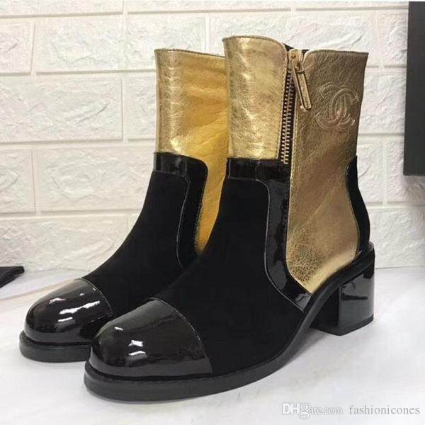Fashion Ladies Winter Boots 2018 Luxury Brand Flat Shoes Women Ankle Booties