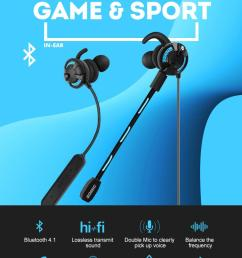 original g618pro wireless inear earphone bluetooth earbud v4 1 headset for mobile game sport music with detachable mic [ 790 x 1096 Pixel ]