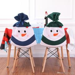 Chair Covers New Year Wedding Average Cost Christmas Seat Cover Multi Color Cute Snowman Home Party Years Dinner Table Ornaments Decor Online Inexpensive