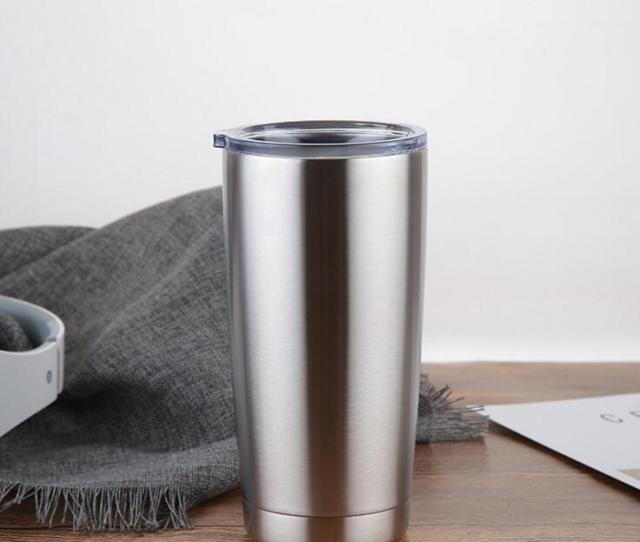 Best Selling Ml New Arrived Sliver Metal Insulated Travel Mug Water Bottle Beer Coffee Mugs With Lid For Car Cups Coffee Cup Drinkware Personalized