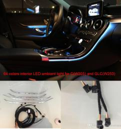 car interior 3 led ambient light door panel central control console light for mercedes benz c class w205 glcw253 c180 c200 interior led door panel  [ 1000 x 1000 Pixel ]