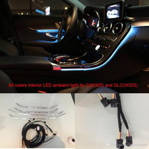 small resolution of car interior 3 led ambient light door panel central control console light for mercedes benz c class w205 glcw253 c180 c200 interior led door panel