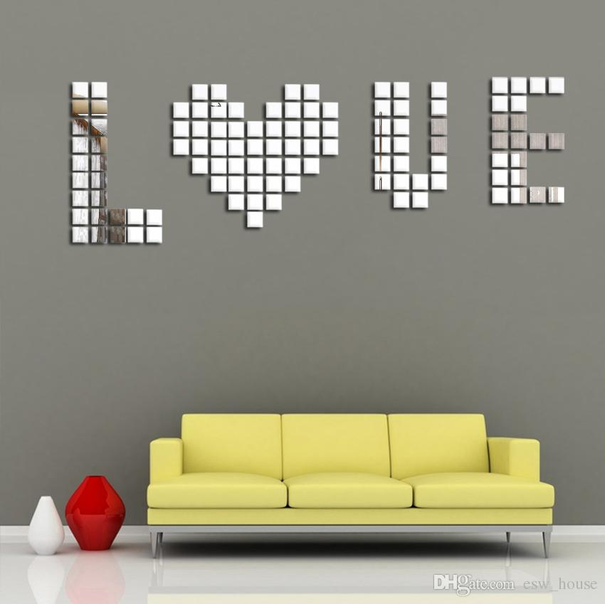 wall sofa antique french ebay diy 2x2cm acylic 3d sticker mosaic mirror square style modern quantity 1 lot 100pcs each pcs size 2x 2cm you can these squares package content x 100 piece