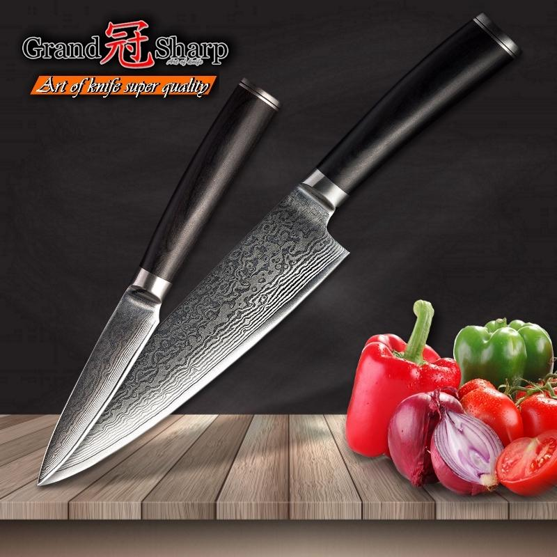 professional kitchen knives round rustic table grandsharp knife set chef paring damascus vg10 japanese steel gift box canada 2019 from
