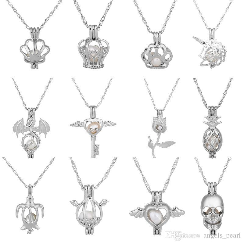 Wholesale Pearl Cage Pendant 2020 New Love Wish Natural