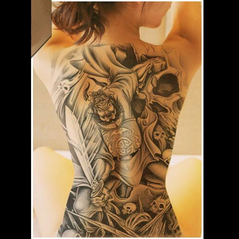 Sexy Dragón León Dios Impermeable Grandes Pegatinas Tatuaje Temporal