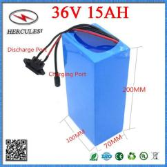 36 Volt Evinrude Ficht Ignition Switch Wiring Diagram Ebike Lithium Battery 36v 15ah Li Ion Electric Bicycle Pack 10s5p Samsung 18650 Cell With Bms 2a Charger Charging Pad For E