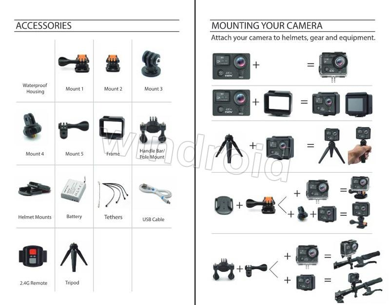 Compre Original EKEN H5S Más EIS Native 4K Ultra HD