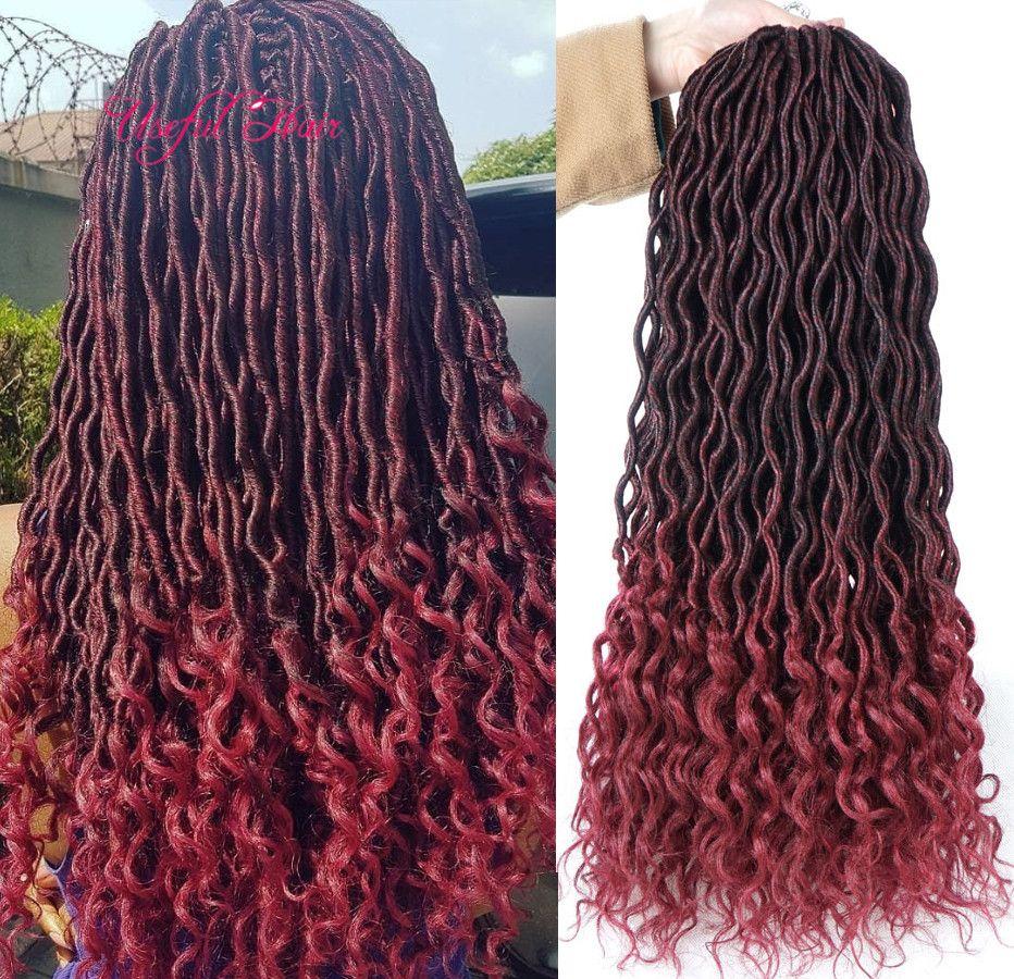 2019 GODDESS LOCS HAIR 18inch Synthetic Braiding Hair