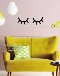 Baby nursery eyelash wall sticker girls room eye decal children removable kids decor diy high quality cut vinyl  decals home also rh dhgate