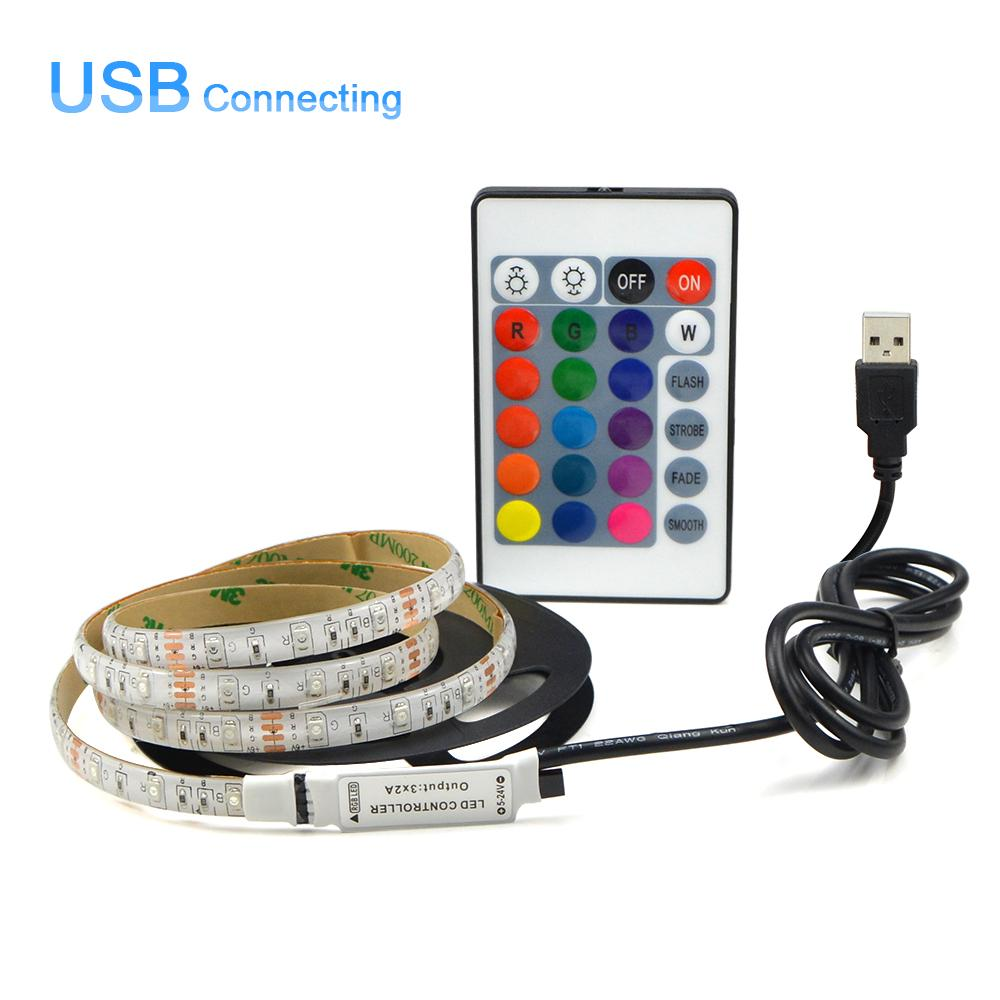 hight resolution of usb powered dc 5v led strip light 2835 rgb white warm white waterproof tape led lamp 1m 2m 3m 4m 5m tv background lighting
