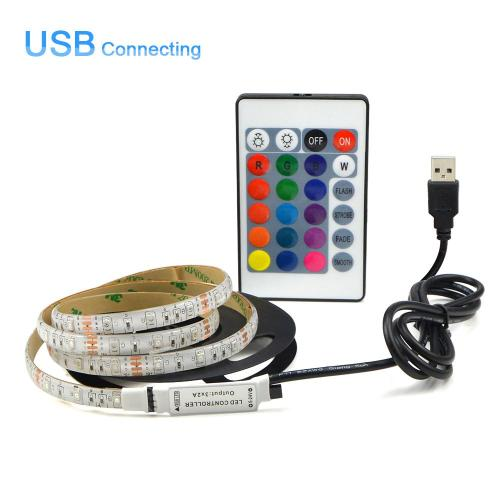 small resolution of usb powered dc 5v led strip light 2835 rgb white warm white waterproof tape led lamp 1m 2m 3m 4m 5m tv background lighting