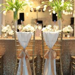 Chair Covers For Weddings Herman Miller Air 2019 2018 New Arrival Wedding Decorations Vinatge Bridal Sash Chiffon Gold Ribbon Simple Supplies From Chic Cheap