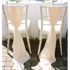Wedding Chair Sash Big With Ottoman 2019 Romantic Flowy Sashes Wide And Long 30d Chiffon Chiavari Covers Custom Made Cream Ivory White 200 75 Cm From Rosammant