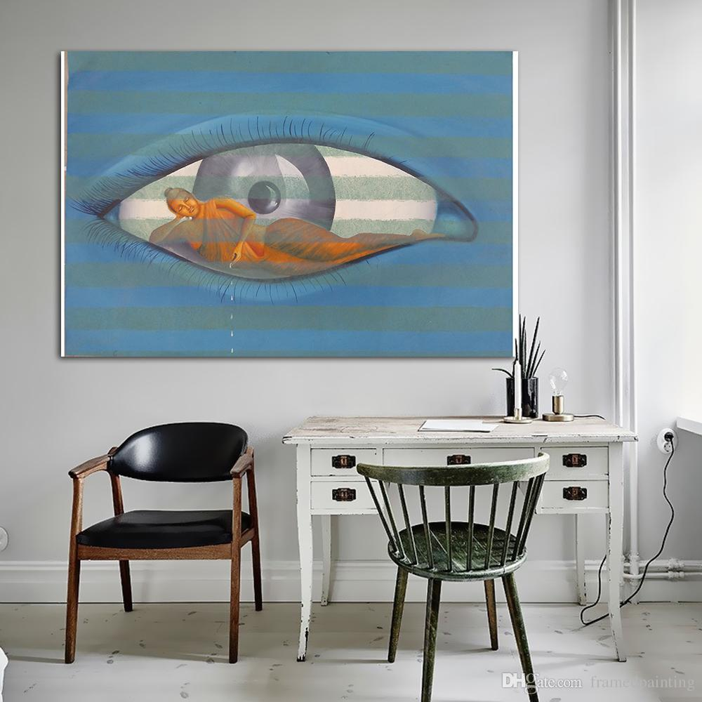 wall painting for living room india ideas small rooms 2019 buddha eyes abstract art oil picture home decoration modern printing no frame from framedpainting