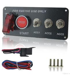 zookoto dc 12v ignition switch panel 5 in 1 car engine start push button led toggle for racing car ignition switch start push button led toggle for racing  [ 1500 x 1500 Pixel ]