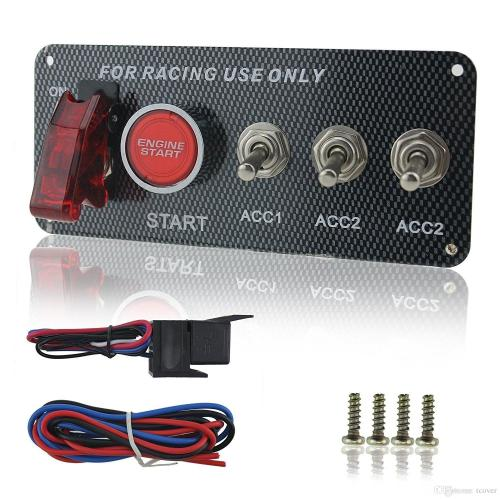 small resolution of zookoto dc 12v ignition switch panel 5 in 1 car engine start push button led toggle for racing car ignition switch start push button led toggle for racing
