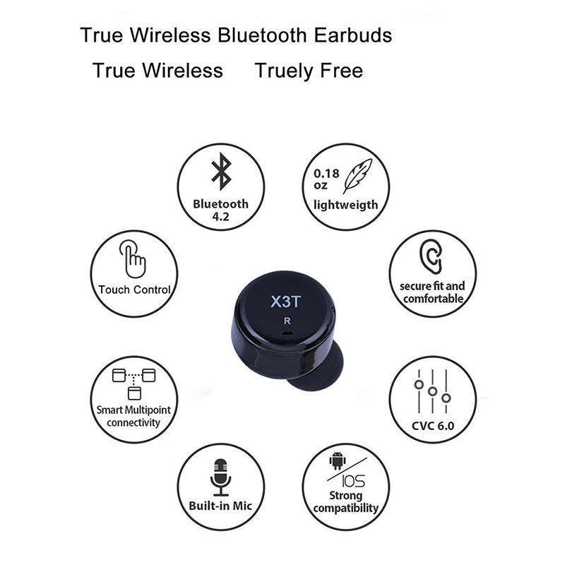 X3T TWS Earbuds Touch Control Wireless Bluetooth