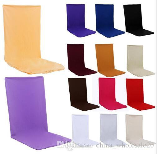 chair covers direct from china office disposal factory 24 solid colors polyester spandex dining for wedding party cover brown seat sofa slipcover recliner